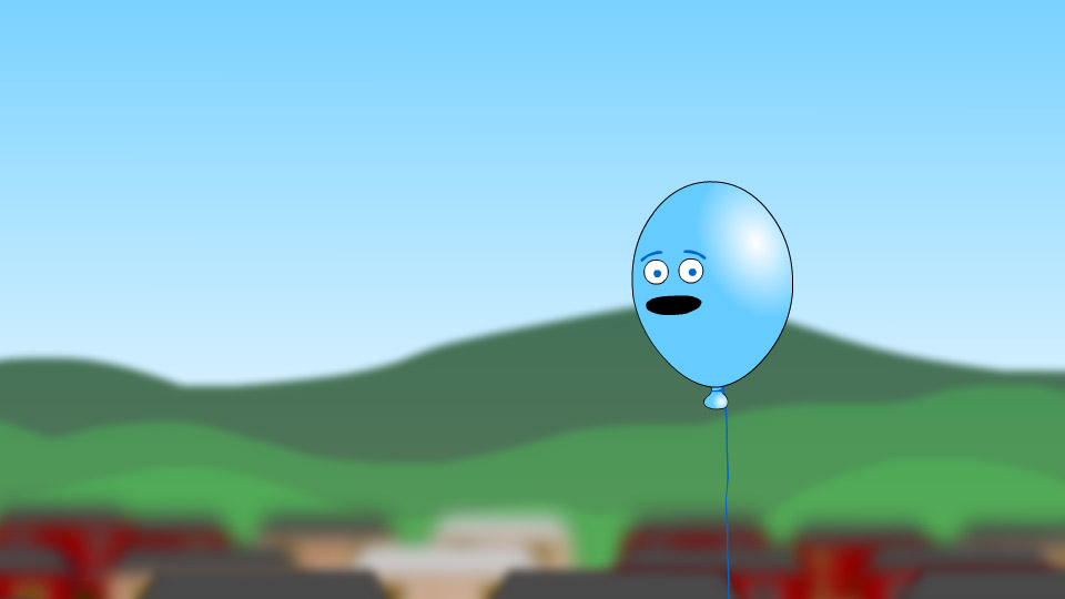 Lonely Blue Balloon