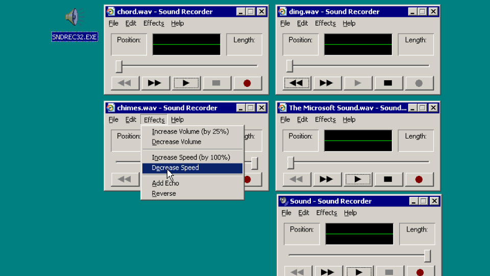 Windows 95 startup sound slowed 4000% - boing - Boing Boing BBS