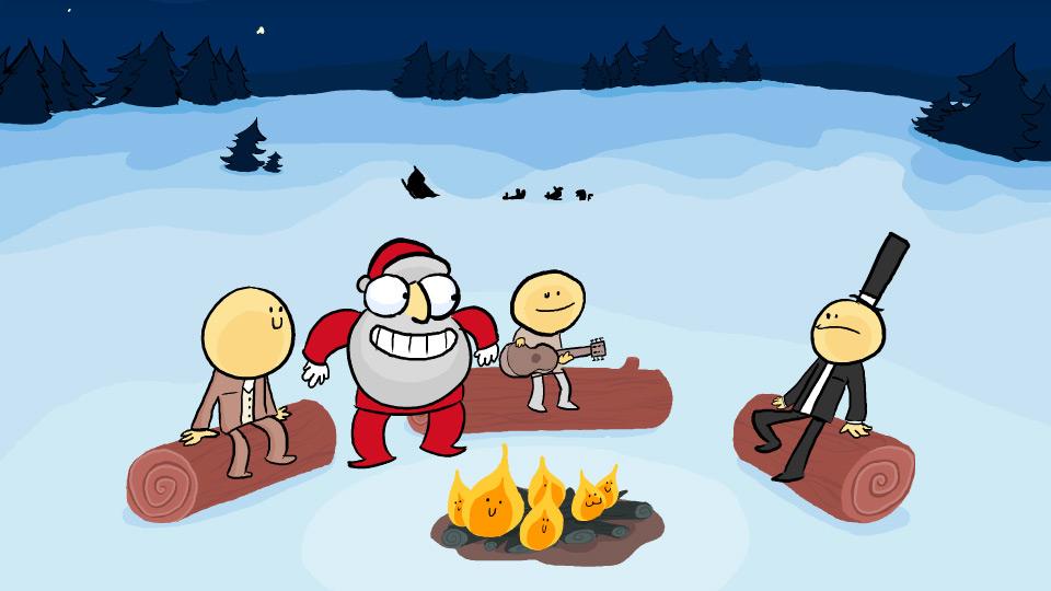 Santa Borrows a Guitar