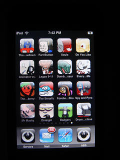 Home icons on iPod
