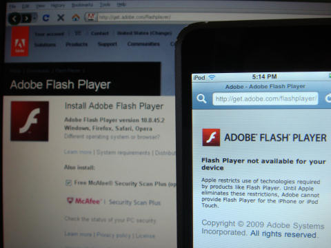 Install Adobe Flash Player on iPod
