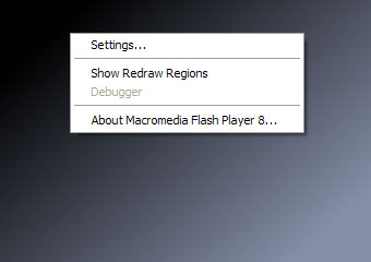 [showing the disable Flash context menu]