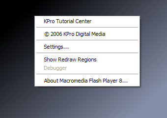 [showing the custom context menu completed]